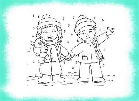 imagenes de las vacaciones para colorear ni 241 os en dibujos del invierno para colorear im 225 genes de
