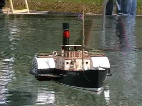 rc boats glasgow rc paddle steamer boat glasgow steam tug boat youtube