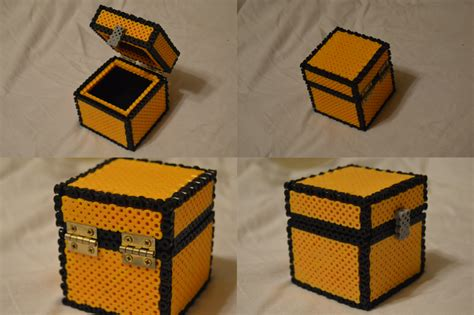 bead chest 3d minecraft perler chest by ard95 on deviantart