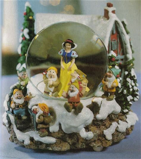 disney snowglobes collectors guide snow white christmas