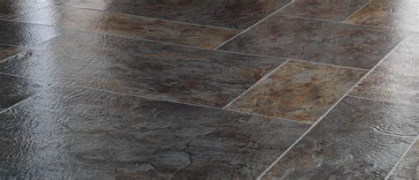 Slate Flooring Fall In With The Artistic Look And Rustic Texture Of