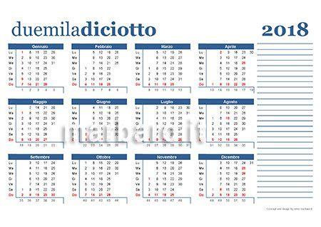 Calendario 2018 Pdf Calendario 2018 Da Stare Scarica Gratis In Pdf