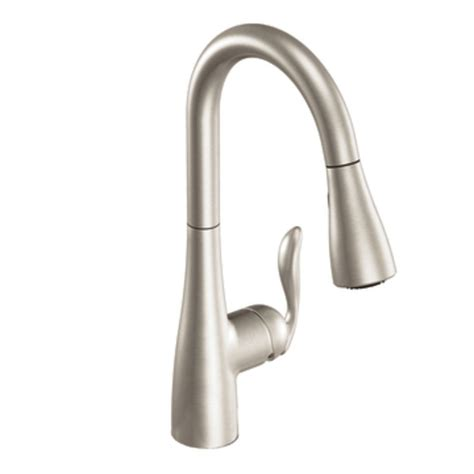 review of kitchen faucets moen 7594srs review one handle high arc pulldown kitchen