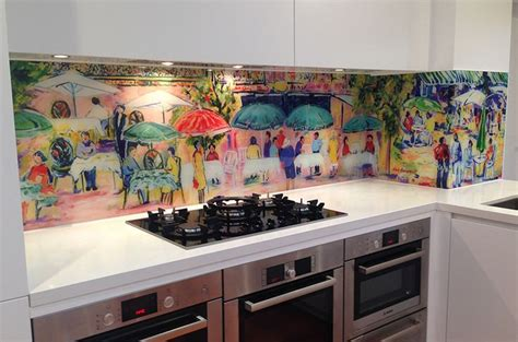 led digital kitchen backsplash printed glass splashback vivant glass digitally