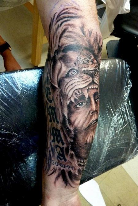 indian lion tattoo indian chief by mully tattoonow