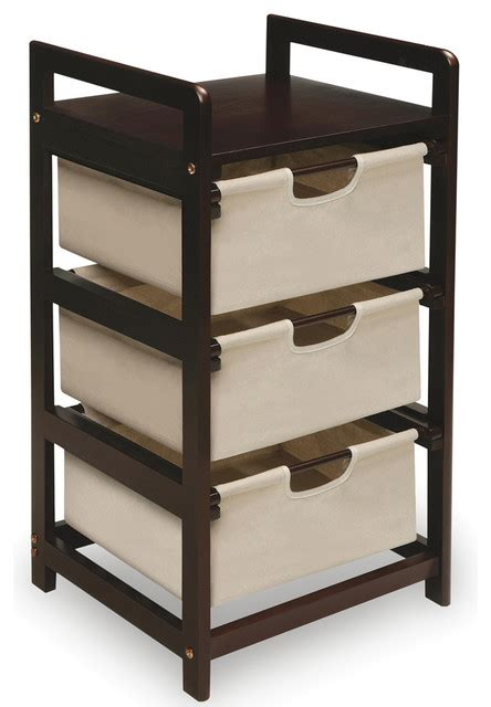 espresso 3 drawer storage unit contemporary closet