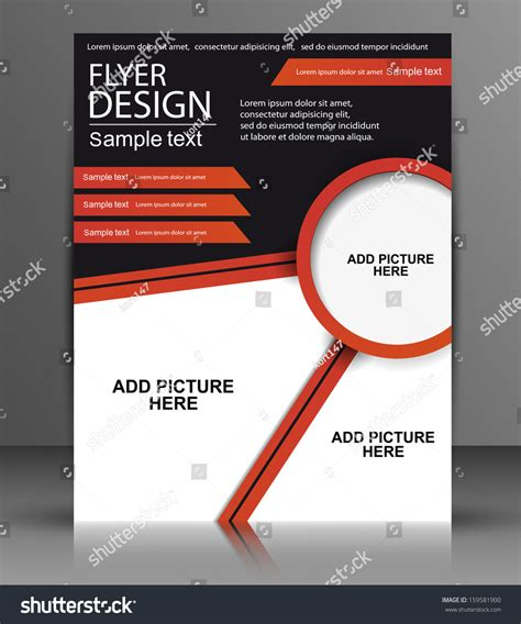 Handbills Design Templates Free vector flyer design business stock vector 159581900