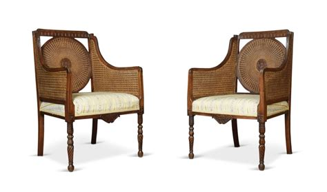 bergere armchairs pair of double caned bergere armchairs antiques atlas