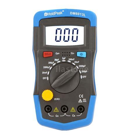 capacitance meter specifications new dm6013l handheld digital lcd capacitor capacitance meter tester data hold us ebay