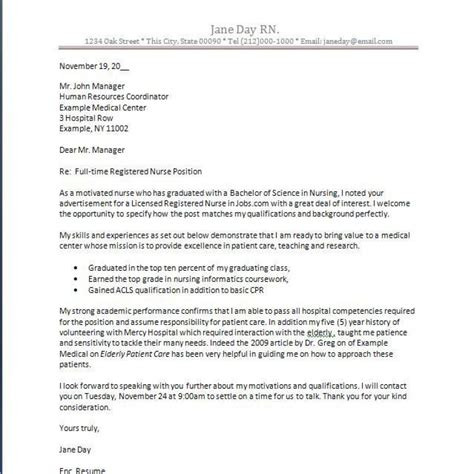 cover letter for new great nursing cover letter new grad letter format writing