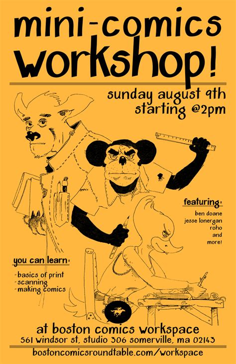 werkstatt comic mini comics workshop 08 09 15