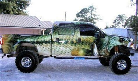 truck painted like fish | hunting