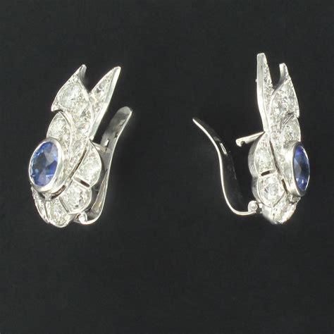 boucles d oreilles d 233 co saphir diamants bijouxbaume