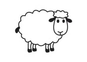 Sheep coloring page only coloring pages