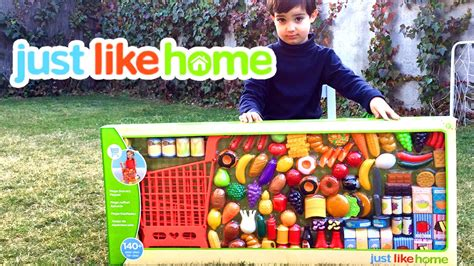 just like home mega grocery playset supermarket juego