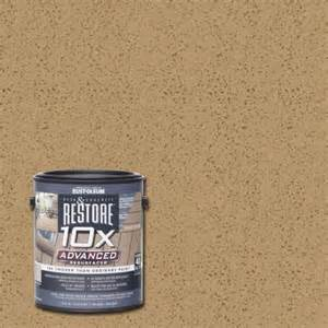 restore 10x colors rust oleum restore 1 gal 10x advanced sandstone deck and