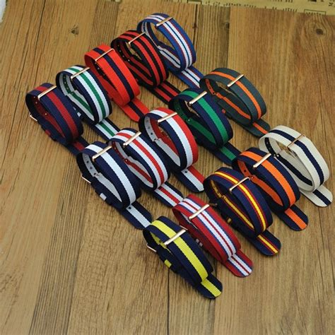dw cx15 high quality delivery dw design quality 20mm nato watchband colorful fashion band nato with