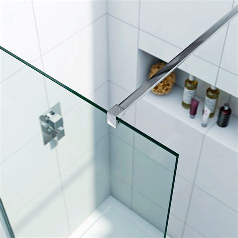Glass Shower Door Splash Guard Rectangular Bath Shower Door Panel Glass Screen Water Splash Guard W Accessory Ebay