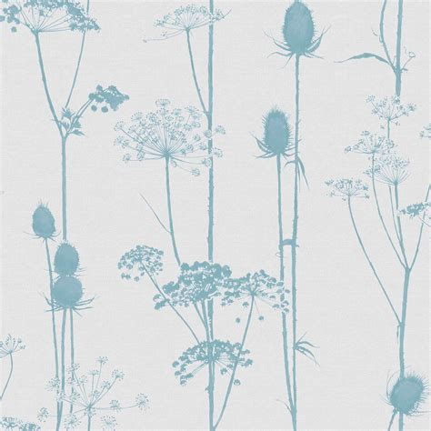 Bathroom Accessories Ideas Colours Thistle Duck Egg Amp Grey Foliage Wallpaper