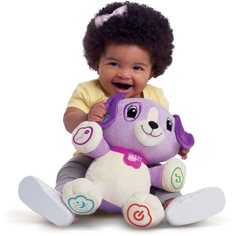 leapfrog puppy interactive learning puppy leapfrog my pal violet plush talking purple ebay
