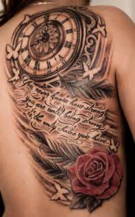 clock tattoos with quotes
