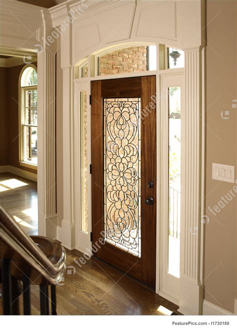 foyer door interior architecture luxury foyer with ornate stained glass door picture of luxury foyer with glass door