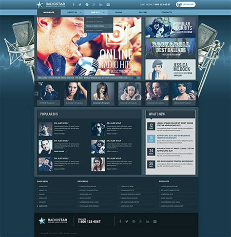 radio templates website templates