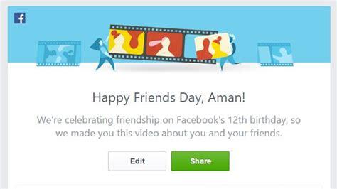 membuat video friends day facebook sambut hari kawan bersempena ulang tahun ke 12