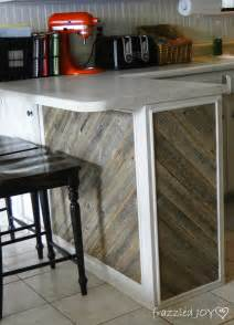 Reclaimed Wood Kitchen Islands by Remodelaholic Diagonal Planked Reclaimed Wood Kitchen Island