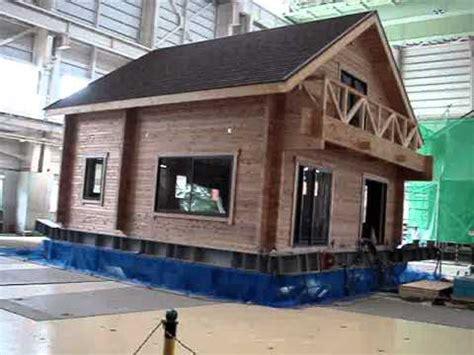 earthquake house log house on earthquake test youtube