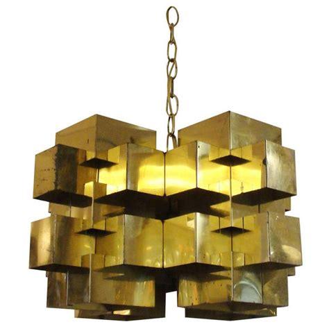 Brass Chandelier Modern 1stdibs Curtis Jere Brass Cubist Chandelier 1stdibs Pendant Lights Chandeliers