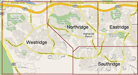 highlands ranch colorado map highlands ranch colorado residential subdivisions map and