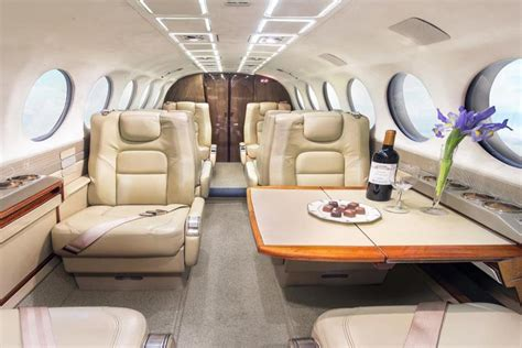 King Air 350 Interior by East Coast Jet Center