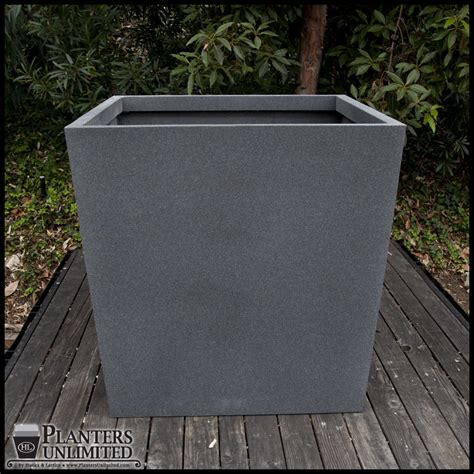 Commercial Fiberglass Planters by Modern Tapered Fiberglass Commercial Planter 48in L X 48in