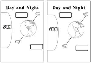 11 best images of day and night printable worksheets day