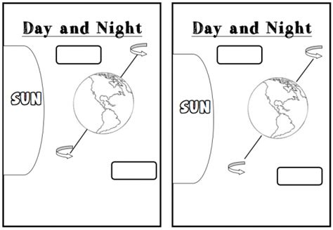 day and night coloring page for kindergarten 11 best images of day and night printable worksheets day