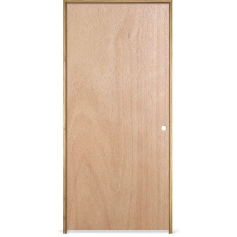 30 X 78 Interior Door Shop Reliabilt Prehung Hollow Flush Lauan Interior Door Common 30 In X 78 In Actual 31