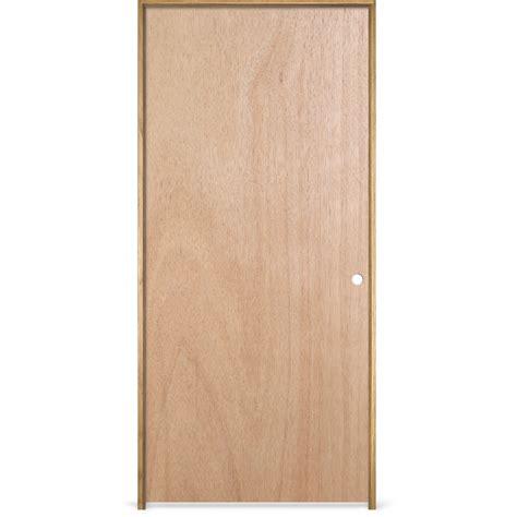 30 X 78 Prehung Interior Door Shop Reliabilt Prehung Hollow Flush Lauan Interior Door Common 30 In X 78 In Actual 31