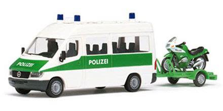 Polizei Motorrad Modelle by Mercedes Benz Sprinter Polizei Mit Motorrad Herpa 043847
