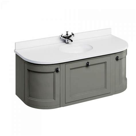 Curved Vanity Unit by Burlington 134 Curved Wall Hung Vanity Unit Uk Bathrooms