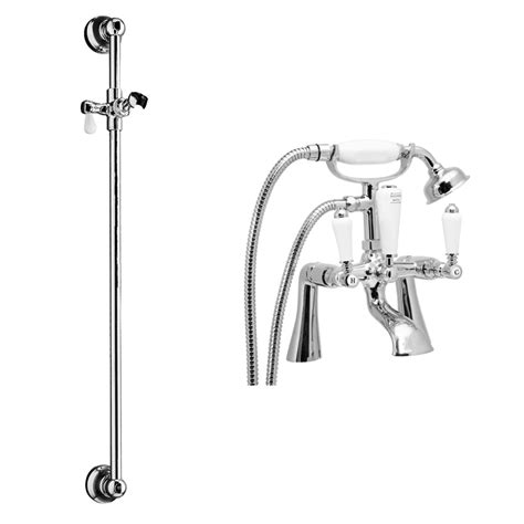 traditional bath taps with shower mixer lancaster traditional bath shower mixer with slider rail kit
