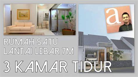 desain rumah probo hindarto rumah 1 lantai lebar 7m dengan 3 kamar tidur youtube
