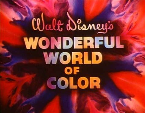 wonderful world of color walt disney tv series wonderful world of color logo