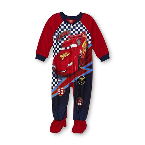 Pajamas Cars disney cars infant toddler boy s footed pajamas lightning mcqueen