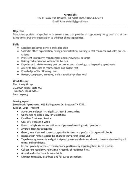 Leasing Manager Resume by Resume Leasing