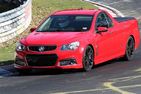 holden car truck holden commodore ute spotted at nurburgring coming to