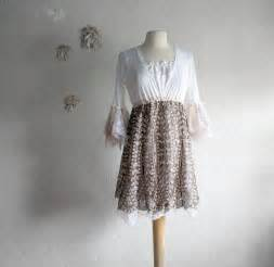 shabby chic gowns shabby chic upcycled dress brown white s clothing