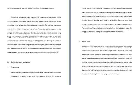 contoh format makalah mahasiswa contoh makalah mahasiswa dalam organisasi dan tanggung