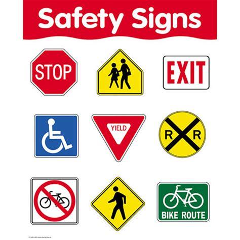 printable road safety banner safety signs basic skills chart kool child