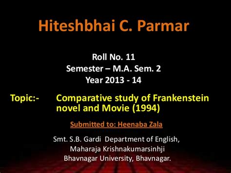 analysis of frankenstein novel p 5 comparative study of frankenstein novel and movie